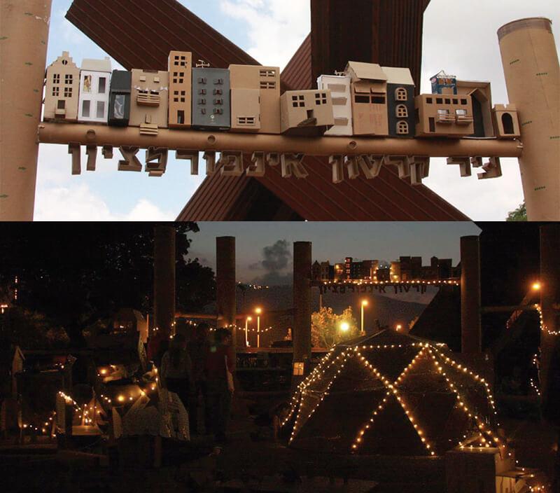 עיר הקרטון בפסטיבל שייח אברייק. צילומים: נעמה אורבך