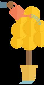 כסף גדל על העצים איור: דותן מורנו